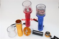 Wholesale Electric Hand Torch - 6pcs lot Metal Electric Torch Shape cigarette Herb leaf Tobacco Grinder for Smoking pipe Crusher Pollen press Mill Smoke hand muller chopper
