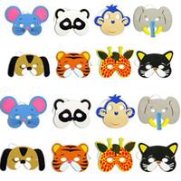 vestido de animal adulto al por mayor-Halloween Party Animal Mask EVA Foam Máscara de disfraces de dibujos animados Niños Fiesta para adultos Festive Dress Up Máscara Regalos de Navidad HH7-20