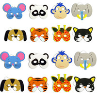 ingrosso animali maschera bambini-Maschera di Halloween Party Animal EVA Schiuma Cartoon Costume Maschera Bambini Festa per adulti Festosa Dress Up Maschera Regali di Natale HH7-20