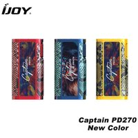 Original IJOY Captain PD270 Box MOD Vape 234W NI / TI / SS TC Electronic Cigarette Vaper Power por Dual 20700 ou 18650 Battery