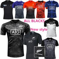Wholesale New Zealand All Blacks Rugby Jersey Shirt Season All Blacks Mens Rugby Football Jersey Size S XXXL best quality