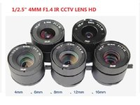 Wholesale cctv lens1 quot f1 for cctv camera mm iris lens CS HD digital million lens metal fixed lens control parts