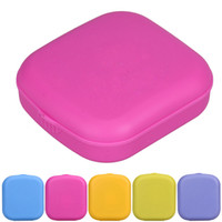 Wholesale carries lenses - Porfessional Mini Mirror Contact Lens Travel Kit Easy Carry Case Storage Holder Container Box