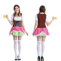 Wholesale Beer Maid Dress - Beer: uniform The princess dress restaurant overalls maid servant oktoberfest attendant uniform costumes