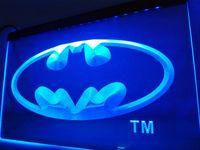 batman unterschrieben großhandel-LC001-Batman Hero Man Cave LED Neonlicht-Zeichen Wohnkultur Handwerk Handwerk Flügel