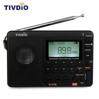 Vente en gros - 1pcs TIVDIO V-115 Multiband FM / AM / SW Récepteur radio USB Interface Charge MP3 / WMA Music Player Portable Support Carte Micro SD / TF