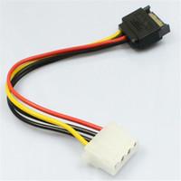 cable de alimentación pin molex al por mayor-Al por mayor-MOSUNX 15 Pin SATA Macho a 4 Pin Molex Hembra IDE HDD Power Disco Duro Cable Envío de la gota Futural Digital F35 venta caliente