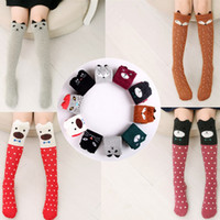 Wholesale cute clothes for baby girls - Cartoon Cute Children Socks Print Animal Cotton Baby Kids Socks Knee High Long Fox Socks For Toddler Girl Clothing Accessories