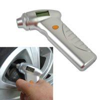 Wholesale Measuring Tire Pressure - Wholesale-2016 New Portable Precision Auto Bike Digital Pressure Tire Tyre Gauge LCD Measure