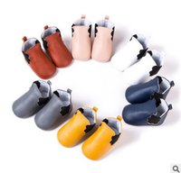 Wholesale Red Bottom Booties - Baby short boots babies clouds PU leather first walker toddler kid soft bottom four seasons casual shoes girls princess single booties R0112