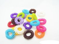 Wholesale 2000pcs Telephone Cord Rubber Hair Ties Elastic Ponytail Holders Hair Ring Scrunchies For Girl Rubber Band Tie TY960 Hair Rope