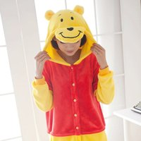 Bella di vendita calda poco costoso Pooh pigiama Anime costume cosplay Pigiama per adulti Unisex Tutina Dress Sleepwear S M L XL