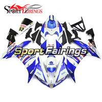 Wholesale Yamaha 52 - ABS Injection Plastic Fairings For Yamaha YZF 1000 YZF R1 2004 2005 2006 04 05 06 Motorcycle Body Kit Motorbike Carenes FIMER 52 Blue White