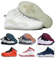 Wholesale Sport Shoes Discount China - Retro 10 Basketball Shoes Sneakers Women Men Discount Superstar Retros China J10 X Sport Canvas Real Authentic Man
