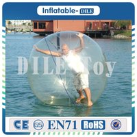 Wholesale inflatable walking zorb pvc ball online - m Diameter Inflatable Water Walking Ball Water Balloon Zorb Ball Inflatable Human Hamster Plastic Ball