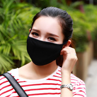 siyah moda maskesi toptan satış-50 adet Anti-Toz Pamuk Ağız Yüz Maskesi Unisex Adam Kadın Bisiklete binme Siyah Moda Yüksek kalite