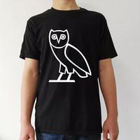 Wholesale Owl Tees - october's very own owl t shirt men casual Man's tee T-shirt Women's summer t short Sleeve black tops woman costume 2017