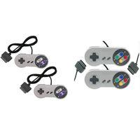 usb snes gamepad al por mayor-10 teclas Juego de juego Controlador de 16 bits Gamepad Pad Joystick para SFC Super Nintendo SNES consola de control del sistema Pad al por mayor