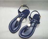 Wholesale sexy leather flats - With box!New 2018 Summer Style Shoes Women Sandals Fashion Brand Slippers Flats Good Quality Flip Flops Sexy Flat Sandal Free shipping