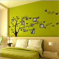 Wholesale poster for home decoration - Tree photo frame Diy 3D vinyl wall stickers home decor Design living room sofa vintage poster wall art decals home decoration