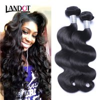 Wholesale Black Wavy Human Hair - Peruvian Malaysian Indian Cambodian Brazilian Virgin Hair Body Wave Wavy Cheap Human Hair Weave Bundles Natural Black Remy Hair Extensions
