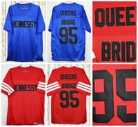 filme de tamanho queen venda por atacado-O Prodigy 95 Hennessy Queens Bridge Filme Jerseys Costurado Vermelho Azul Barato Mens Futebol Jersey Tamanho S-3XL