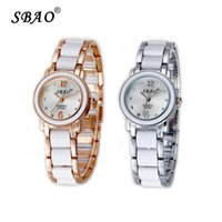 Wholesale Wholesale Wrist Watches China - Watch Lady Fashion China Lady Crystal Fashion Wrist Watch SBAO Brand for Wemen Casual Quartz Wristwatch