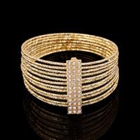 Wholesale pave diamond bangles for sale - Group buy Bracelets Bangles for Women Jewelry Unique Micro Pave Fashion Bracelets Bangles K Gold Plated Crystal With Diamond Bracelet Bangle