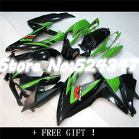Wholesale Suzuki Gsxr Fairings Green - 08-10 GSXR750 GSXR 600 750 Green black GSXR600 K8 08 09 10 2008 2009 2010 NEW Green Fairing