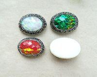 ingrosso pietre di pavimentazione diy-15pcs naturale shell shell perline di pietra pavimenta strass di cristallo connettore distanziatore tallone per fai da te fare gioielli collana braccialetto bd42