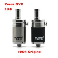 Wholesale metal threads - Yocan NYX Atomizers Wax Tank Vaporizer With Quartz Dual Coil Fit Thread W W Box Mod Yocan Evolve Plus