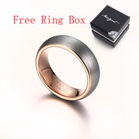 Wholesale Tungsten Rose Rings For Men - Brand New Tungsten Carbide Ring Rose Gold Plated Wedding Rings for Women and Men Wholesale Men's Jewelry