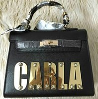 Wholesale Ladies Ostrich Bags - Ladies' Fashion Kelli Fun Bags  Name bags Customized with Personal Name 3 Sizes Different Colours