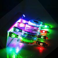 câble d'éclairage rétractable achat en gros de-Rétractable LED Micro Câble Multi-Couleur 1 M Lumière Durable Chargeur Microusb Chargeur Données Sync Cordon Pour Samsung Pour HTC Android Téléphone