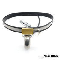 Wholesale Male Chastity Underwear - Amazing Price Stainless Steel Male Underwear Chastity Belt Plug For Party Hot A186