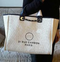 Wholesale Denim Covers - Hot Sale High Quality GST Bag 1005 Grand Shopping Tote Chain Bag Denim fabric canvas bag