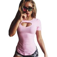Love Heart Hollow Sexy Cute Magliette Top Plus Size For Women O-Collo Solid Simple Top da donna Top Slim Tshirt rosa Large
