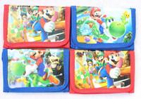 bolsas de equipo al por mayor-Venta al por mayor nuevo 12 piezas Juego clásico Mario del equipo Monedas Monederos monederos bolsas de regalo Regalos para niños