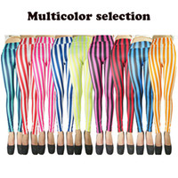 Wholesale Zebra Leggings Hot - Wholesale- 9 Styles Hot High Quality&Elastic Push Up 2017 Spandex Zebra Print Fashion Sexy Leggings Vertical Stripe Pants For Women