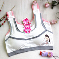 Wholesale Teenage Girls Bras - Sports Bra cotton Teenage Underwear Students Bra Girls Training Bra For Kids top Cotton Vest Kids Intimates