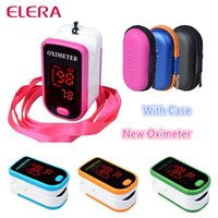 Wholesale New Finger Pulse Oximeter With Case Fingertip Oximetro de pulso de dedo LED Pulse Oximeters Saturator Pulsioximetro