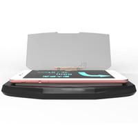 изображения сотового телефона оптовых-Универсальный Head Up Display HUD Smart Cell Phone Navigation Bracket удобный безопасный противоскользящий мобильный GPS-изображение держатель стеклянного отражателя