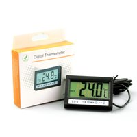 Wholesale External Thermometer - Thermometer Both Inside Outside Temperature Measurement, With A Clock Display, Ultra-Thin Shell ST-2 Internal External Sensors With Clock