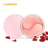 Wholesale Rose Mask - LANBENA Rose Serum Eye Mask Dark Circle Eye Bags Eliminate Puffy Eyes Fine Line Wrinkles Anti Aging Whitening Skin Care Face