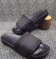 Wholesale Leather Platform Slide - High quality mens designer slippers Brand mystic Medusa Slide Sandals Men's Beach Shoes Rubber Platform Slippers luxury sandals