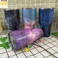Wholesale Design Cool - 30OZ New Arrival Stainless Steel Tumbler Water Cups Drink Cooling Hot Water Cups Large Capacity Thermos Beer Mug Mixed Color Fashion Design