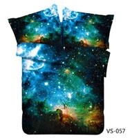 diseñadores de textiles al por mayor-Diseñador Galaxy Nebula Juegos de cama impresos en 3D Seis piezas de algodón poliéster Textiles para el hogar con Queen King Super Kind Size