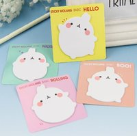 Kawaii Unique Scrapbooking Molang Coniglio Appendiabiti Stickers Bookmark Tab Bandiere Memo Book Marker Notes Office Stationery