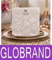 hot table cards seat cards place folder hollow flora edged beaded wedding invitation 100pcs lot champagne cards glo109