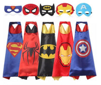 Gold Hands 1 Umhang + 1 Masker Chrismas Kinder Superhero Capes Jungen Mädchen Kinder Superhero Halloween Cosplay Superhelden Capes Kinder Capes Mit Maske